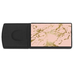 Luxurious Pink Marble 5 Rectangular Usb Flash Drive by tarastyle