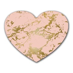 Luxurious Pink Marble 5 Heart Mousepads by tarastyle