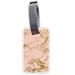 Luxurious Pink Marble 5 Luggage Tags (one Side)  by tarastyle