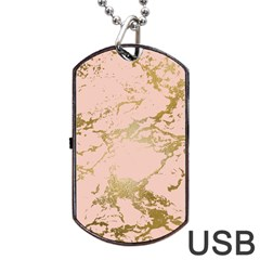 Luxurious Pink Marble 5 Dog Tag Usb Flash (two Sides) by tarastyle