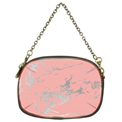 Luxurious Pink Marble 6 Chain Purses (two Sides)  by tarastyle
