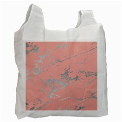 Luxurious Pink Marble 6 Recycle Bag (one Side) by tarastyle