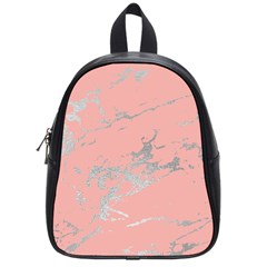 Luxurious Pink Marble 6 School Bag (small) by tarastyle