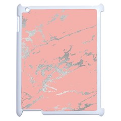 Luxurious Pink Marble 6 Apple Ipad 2 Case (white) by tarastyle