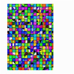 Colorful Squares Pattern                             Small Garden Flag by LalyLauraFLM