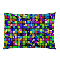 Colorful Squares Pattern                             Pillow Case by LalyLauraFLM