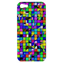 Colorful Squares Pattern                       Apple Iphone 5 Hardshell Case by LalyLauraFLM
