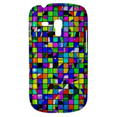 Colorful Squares Pattern                       Samsung Galaxy Ace Plus S7500 Hardshell Case by LalyLauraFLM