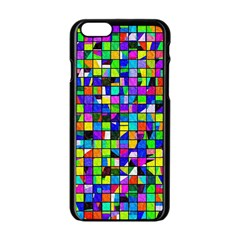 Colorful Shapes On A White Background Apple Iphone 6/6s Black Enamel Case$10 by LalyLauraFLM