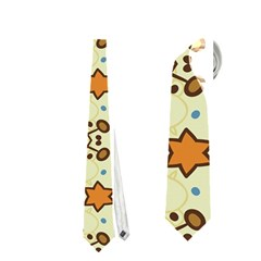 Stars And Other Shapes Pattern                               Necktie by LalyLauraFLM