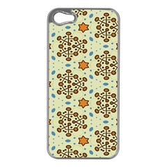 Stars And Other Shapes Pattern                         Apple Iphone 5 Case (silver) by LalyLauraFLM