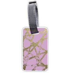 Modern,abstract,hand Painted, Gold Lines, Pink,decorative,contemporary,pattern,elegant,beautiful Luggage Tags (one Side)  by 8fugoso
