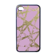 Modern,abstract,hand Painted, Gold Lines, Pink,decorative,contemporary,pattern,elegant,beautiful Apple Iphone 4 Case (black) by 8fugoso