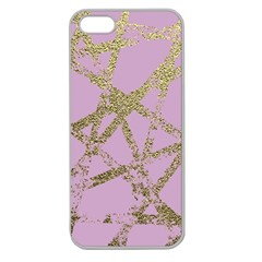 Modern,abstract,hand Painted, Gold Lines, Pink,decorative,contemporary,pattern,elegant,beautiful Apple Seamless Iphone 5 Case (clear) by 8fugoso