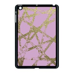 Modern,abstract,hand Painted, Gold Lines, Pink,decorative,contemporary,pattern,elegant,beautiful Apple Ipad Mini Case (black) by 8fugoso
