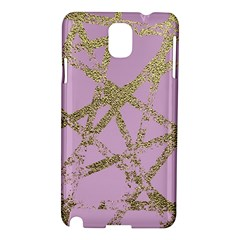 Modern,abstract,hand Painted, Gold Lines, Pink,decorative,contemporary,pattern,elegant,beautiful Samsung Galaxy Note 3 N9005 Hardshell Case by 8fugoso