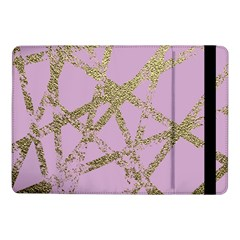 Modern,abstract,hand Painted, Gold Lines, Pink,decorative,contemporary,pattern,elegant,beautiful Samsung Galaxy Tab Pro 10 1  Flip Case by 8fugoso