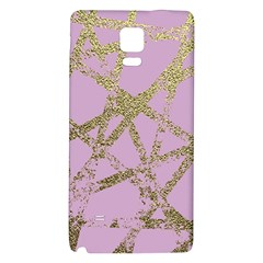 Modern,abstract,hand Painted, Gold Lines, Pink,decorative,contemporary,pattern,elegant,beautiful Galaxy Note 4 Back Case by 8fugoso