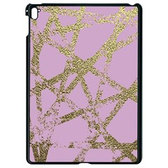 Modern,abstract,hand Painted, Gold Lines, Pink,decorative,contemporary,pattern,elegant,beautiful Apple Ipad Pro 9 7   Black Seamless Case by 8fugoso