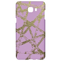 Modern,abstract,hand Painted, Gold Lines, Pink,decorative,contemporary,pattern,elegant,beautiful Samsung C9 Pro Hardshell Case  by 8fugoso