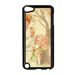 Beautiful Art Nouveau Lady Apple Ipod Touch 5 Case (black) by 8fugoso