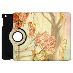 Beautiful Art Nouveau Lady Apple Ipad Mini Flip 360 Case by 8fugoso
