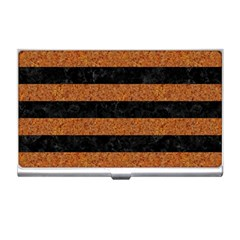 Stripes2 Black Marble & Rusted Metal Business Card Holders by trendistuff