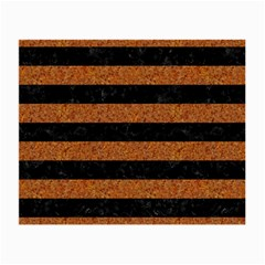Stripes2 Black Marble & Rusted Metal Small Glasses Cloth by trendistuff