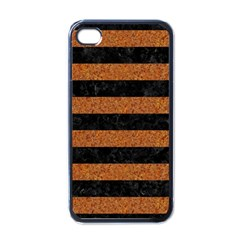 Stripes2 Black Marble & Rusted Metal Apple Iphone 4 Case (black)