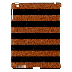 Stripes2 Black Marble & Rusted Metal Apple Ipad 3/4 Hardshell Case (compatible With Smart Cover) by trendistuff