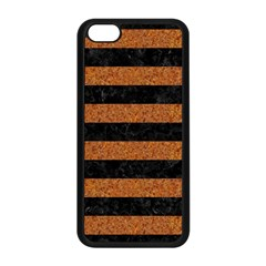Stripes2 Black Marble & Rusted Metal Apple Iphone 5c Seamless Case (black) by trendistuff