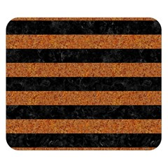 Stripes2 Black Marble & Rusted Metal Double Sided Flano Blanket (small)  by trendistuff