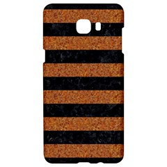 Stripes2 Black Marble & Rusted Metal Samsung C9 Pro Hardshell Case  by trendistuff