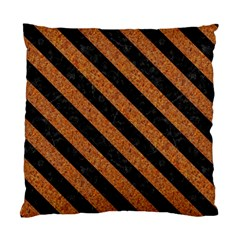 Stripes3 Black Marble & Rusted Metal Standard Cushion Case (one Side) by trendistuff