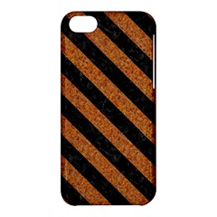 Stripes3 Black Marble & Rusted Metal Apple Iphone 5c Hardshell Case by trendistuff