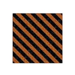 Stripes3 Black Marble & Rusted Metal Satin Bandana Scarf by trendistuff