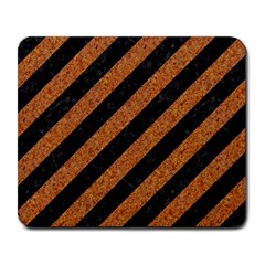 Stripes3 Black Marble & Rusted Metal (r) Large Mousepads by trendistuff