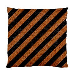 Stripes3 Black Marble & Rusted Metal (r) Standard Cushion Case (two Sides) by trendistuff