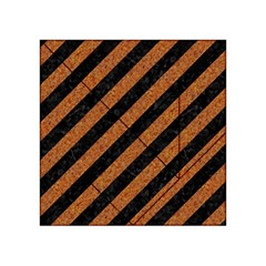 Stripes3 Black Marble & Rusted Metal (r) Acrylic Tangram Puzzle (4  X 4 ) by trendistuff