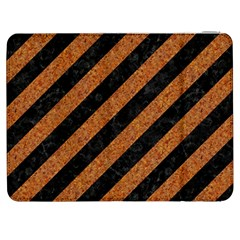 Stripes3 Black Marble & Rusted Metal (r) Samsung Galaxy Tab 7  P1000 Flip Case by trendistuff