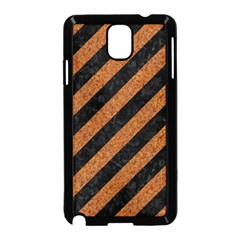 Stripes3 Black Marble & Rusted Metal (r) Samsung Galaxy Note 3 Neo Hardshell Case (black) by trendistuff