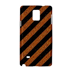 Stripes3 Black Marble & Rusted Metal (r) Samsung Galaxy Note 4 Hardshell Case by trendistuff