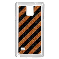 Stripes3 Black Marble & Rusted Metal (r) Samsung Galaxy Note 4 Case (white)