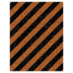 Stripes3 Black Marble & Rusted Metal (r) Drawstring Bag (large) by trendistuff