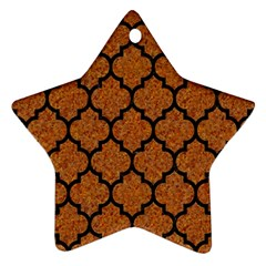 Tile1 Black Marble & Rusted Metal Ornament (star) by trendistuff