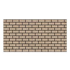 Brick1 Black Marble & Sand Satin Shawl by trendistuff