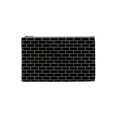 Brick1 Black Marble & Sand (r) Cosmetic Bag (small)  by trendistuff