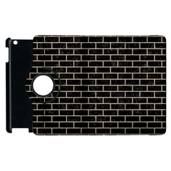 Brick1 Black Marble & Sand (r) Apple Ipad 3/4 Flip 360 Case by trendistuff