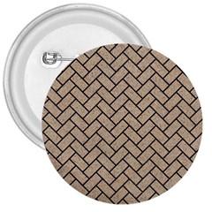 Brick2 Black Marble & Sand 3  Buttons by trendistuff