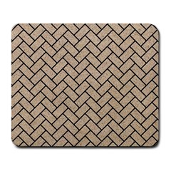 Brick2 Black Marble & Sand Large Mousepads by trendistuff